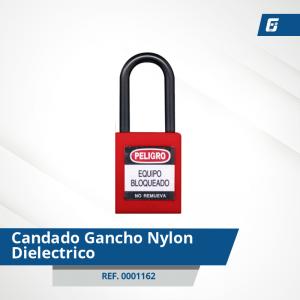 Candados Gancho Nylon-Dieléctrico - Cad Rojo 38mm