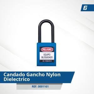 Candados Gancho Nylon-Dieléctrico - Cad Azul 38 mm
