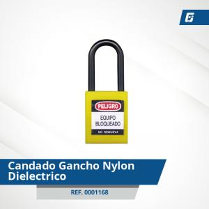 Candados Gancho Nylon-Dieléctrico - Cad Amarillo 38 mm