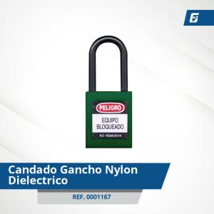 Candados Gancho Nylon-Dieléctrico - Cad Verde 38 mm