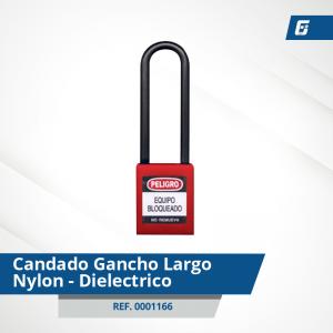 Candados GanchoLargo Nylon-Dieléctrico - Cad Rojo 76 mm