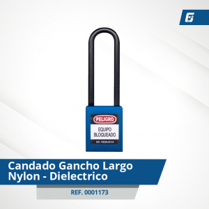 Candados GanchoLargo Nylon-Dieléctrico - Cad Azul 76 mm