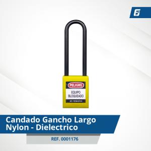 Candados GanchoLargo Nylon-Dieléctrico - Cad Amarillo 76 mm