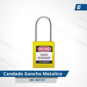 Candado Gancho Metálico - Cad Amarillo 38 mm