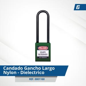Candados GanchoLargo Nylon-Dieléctrico - Cad Verde 76 mm