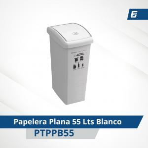 Caneca plástica paletizada Blanca 55 lts