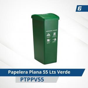 Caneca plástica paletizada Verde 55 lts