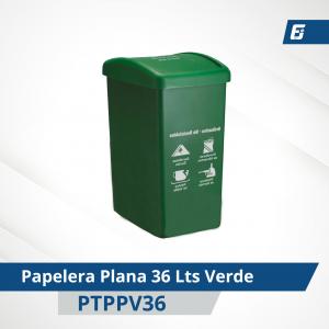 Caneca plástica paletizada Verde 36 lts