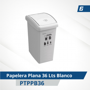 Caneca plástica paletizada Blanca 36 lts